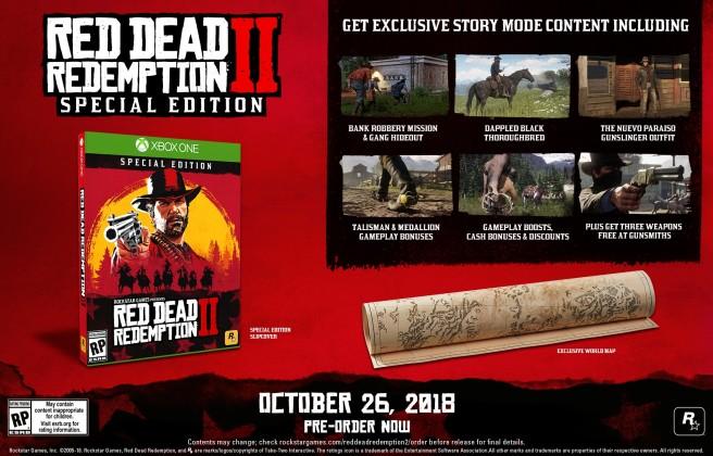Red Dead Redemption 2 special edition pre-order bonus picture